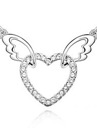 Angel wings of lovers love the necklace Austrian import ms crystal pendant