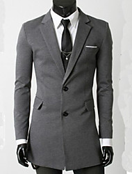 Men's Casual Formal Long Sleeve Long Blazer