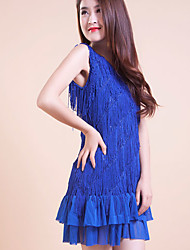 Vestidos ( Azul , Poliéster , Danza Latina ) - Danza Latina - para Mujer/Niños