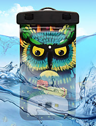 Yellow-Eyed Owl Pattern Transparent Waterproof Touchscreen for iPhone 7 6s 6 Plus