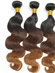 Menschenhaar spinnt Peruanisches Haar Natürlich gewellt 3 Stück Haar webt