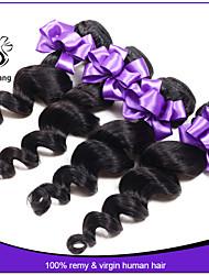 7a malese capelli vergini 3pcs onda allentata economici estensioni dei capelli malesi dell'onda allentata vergini umani