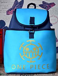 bolsa Inspirado por One Piece Cosplay Animé Accesorios de Cosplay bolsa / mochila Azul Lienzo Hombre / Mujer