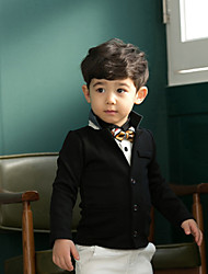 Boy's Cotton/Polyester British Style Simple Long Sleeve Suit & Blazer