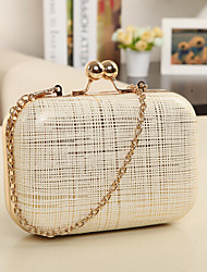 Women Other Leather Type Event/Party / Outdoor Evening Bag White / Pink / Yellow / Gold / Black