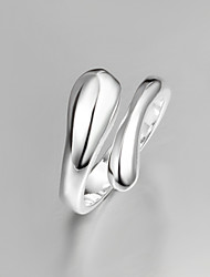 Z&X® 925 Silver Simple Elegant Statement Rings Party/Daily 1pc