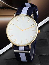 Men's Colorful Fabric Simple Dial Casual Quartz Watch Wrist Watch Cool Watch Unique Watch Fashion Watch