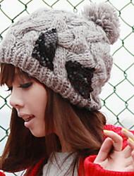 Women Wool Bowknot Hat