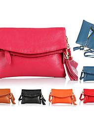 MEGA Women's Handbags Clutch Genuine Leather Shoulder Bags Tassel Bag Fold ipad mini Bags