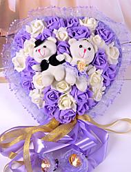 29 rosa simulação com festão guarnição ornamentos quarto casamento amor dois coreano porta filhotes casamento