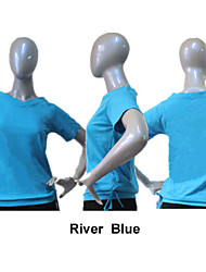 Cotton/Lycra Short Sleeve Dance T-shirt More Colors for Girls and Ladies