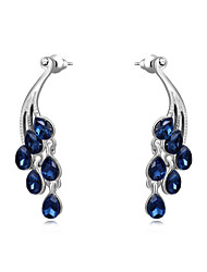 Drop Earrings Crystal Rhinestone Silver Plated Alloy Fashion Jewelry Wedding Party Daily 2pcs