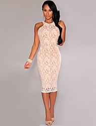 Vestidos Tank Round Neck Embroidery Vintage Lace Dress Full-Line Elegant Casual Women's Dress 9456