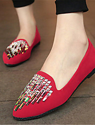 Women's Shoes Flat Heel Pointed Toe Flats Casual Black/Blue/Red
