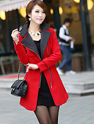 Women's Casual/Work Thick Long Sleeve Long Coat