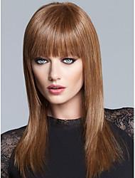 высокое качество монолитным длинные прямые моно топ девственница Remy человеческих волос парики 7 цветов на выбор