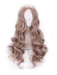 Wigs For Women Female Cosplay Cinderella Pure Colour Synthetic Curly Wavy Wig Party Anime Rose Net Peruca Hair