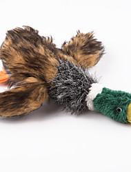 Коты / Собаки Игрушки для животных Плюшевые игрушки Скрип / Утка Коричневый Текстиль