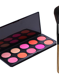 Pro Party 10 Colors Face Blush Blusher Powder Palette + 1PCS Blush Brush