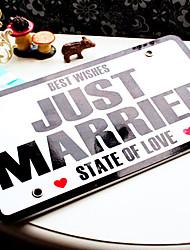 Wedding Car License Plate