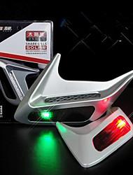 2pcs Car Decoration Side Air Vent Outlet Solar Power LED Warning Flash Lamp Shark Gill Light