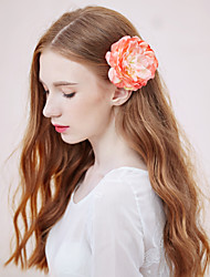Women's Alloy/Fabric Headpiece - Wedding/Casual/Outdoor Flowers 1 Piece