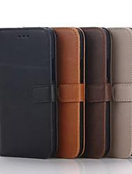 Pour Coque HTC Porte Carte Portefeuille Avec Support Clapet Coque Coque Intégrale Coque Couleur Pleine Dur Cuir PU pour HTC Autre