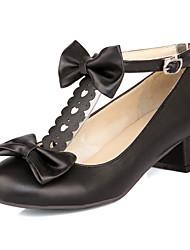 Zapatos de mujer Cuero Sintético Tacón Bajo Punta Redonda/Punta Cerrada Pumps/Tacones Vestido/Fiesta y Noche Negro/Rosa/Beige
