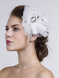 Women Fabric/Net Flowers With Imitation Pearl/Rhinestone Wedding/Party Headpiece