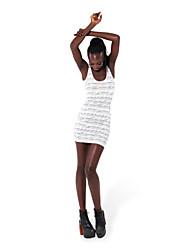 Womens Tight 3D Mini Graphic Print Stretch Bodycon Summer Wrap Vest Top Dress