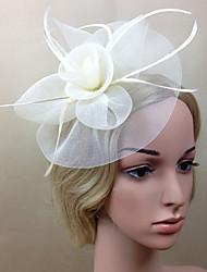 Women Net Elegant Fascinators/Flowers With Wedding/Party Headpiece(More Colors)