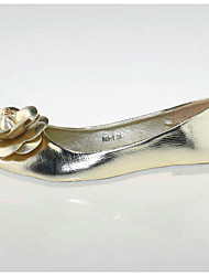 Women's Shoes  Flat Heel Ballerina/Pointed Toe Flats Casual White/Gold
