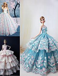 3 Stück Barbie Puppenfest-Zeremonie Prinzessin Stil elegantes Kleid