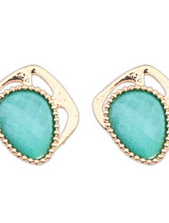 Sweet Women's Alloy Stud Earrings With Multi-stone