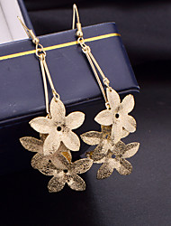 Top Quality European Style Flower Shape Drop Earrings for Wedding Party