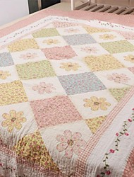 Pink Cotton Twin Quilt