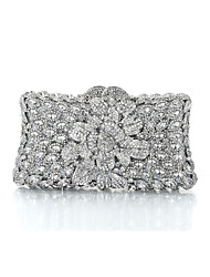 Women's Dazzling Silver Plating Alloy Rhinestone Crystal Evening Bag/Clutches for Party