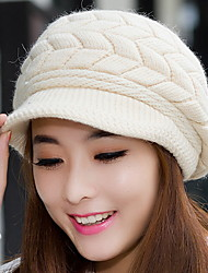 Women Warm Earmuffs Duck Tongue Knitted Cap