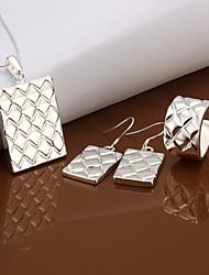 Schmuck-Set Damen Party / Alltag / Besondere Anlässe Schmuck-Set Silber Halsketten / Ringe / Ohrringe Silber