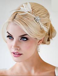 mão headpieces fascinator cabelo pena feita casamento Fascinators 006