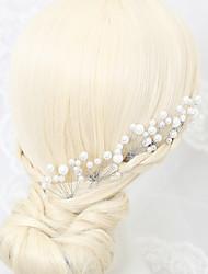 Mulheres / Menina das Flores Liga / Imitação de Pérola Capacete-Casamento / Ocasião Especial 5 Peças Branco