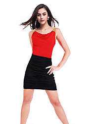 Women's Sexy / Party Dress Mini Cotton / Polyester / Spandex
