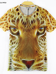 Monkey Lion Summer Fashion Men's Short Sleeve 3D Print T-shirt Shirt(M-XXL)