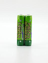 2pcs pkcell piles rechargeables 1.6V 900mAh coloré AAA Ni-Zn