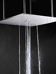 20 Inch Rectangular Stainless Steel 304 Rainfall Bathroom Shower Head With Swash And Rain Two Water Functions