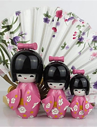 Home Decoration Japanese Kokeshi Doll Original Wood Geisha Doll Cute Girl Doll Best Holiday Gift