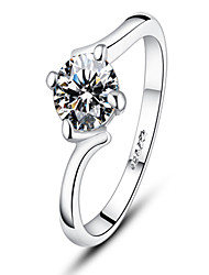 Japon et la Corée S925 simulation d'argent de l'anneau de diamant de 1 carat