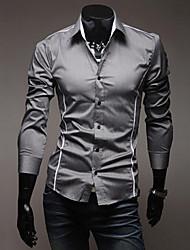 Men's Shirt Collar Casual Shirts , Acrylic / Organic Cotton Long Sleeve Casual Fashion Winter / Fall TOPHERE