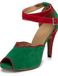 Zapatos de baile (Negro/Verde/Gris) - Salsa - No Personalizable - Tacón de estilete