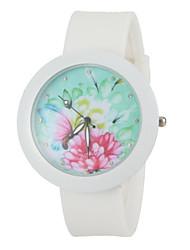 Ladies' Silicone Strap Color Design Fashion Watches